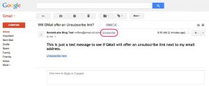 GMail Adds New Unsubscribe Option