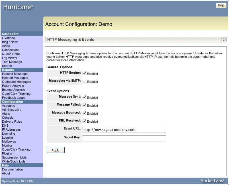 Hurricane MTA Server 2.0 Feature Highlight – HTTP Event Engine