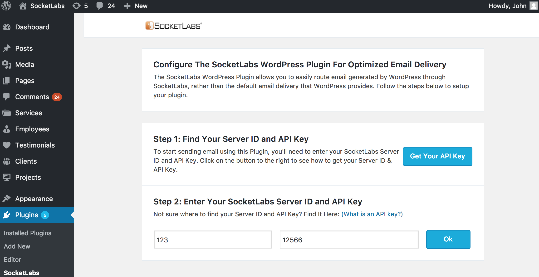 SocketLabs WordPress Plugin
