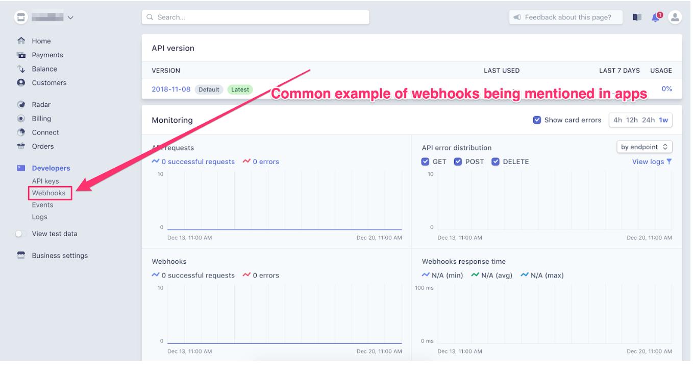 example of webhook