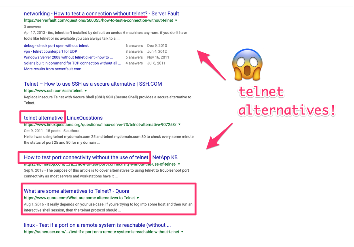 telnet alternatives