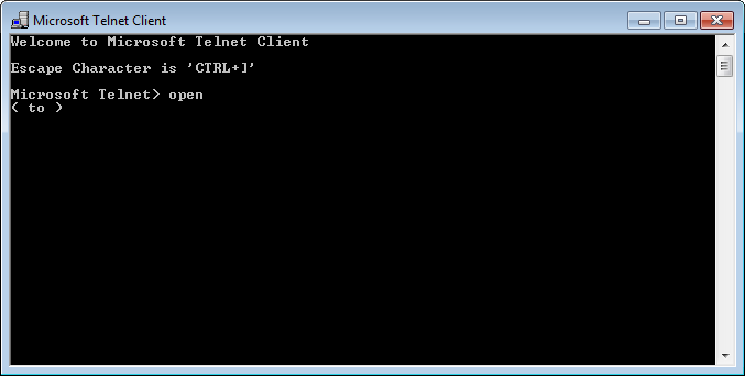 Telnet - Open Command