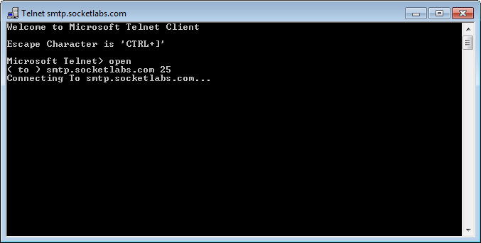 Telnet is attempting to connect