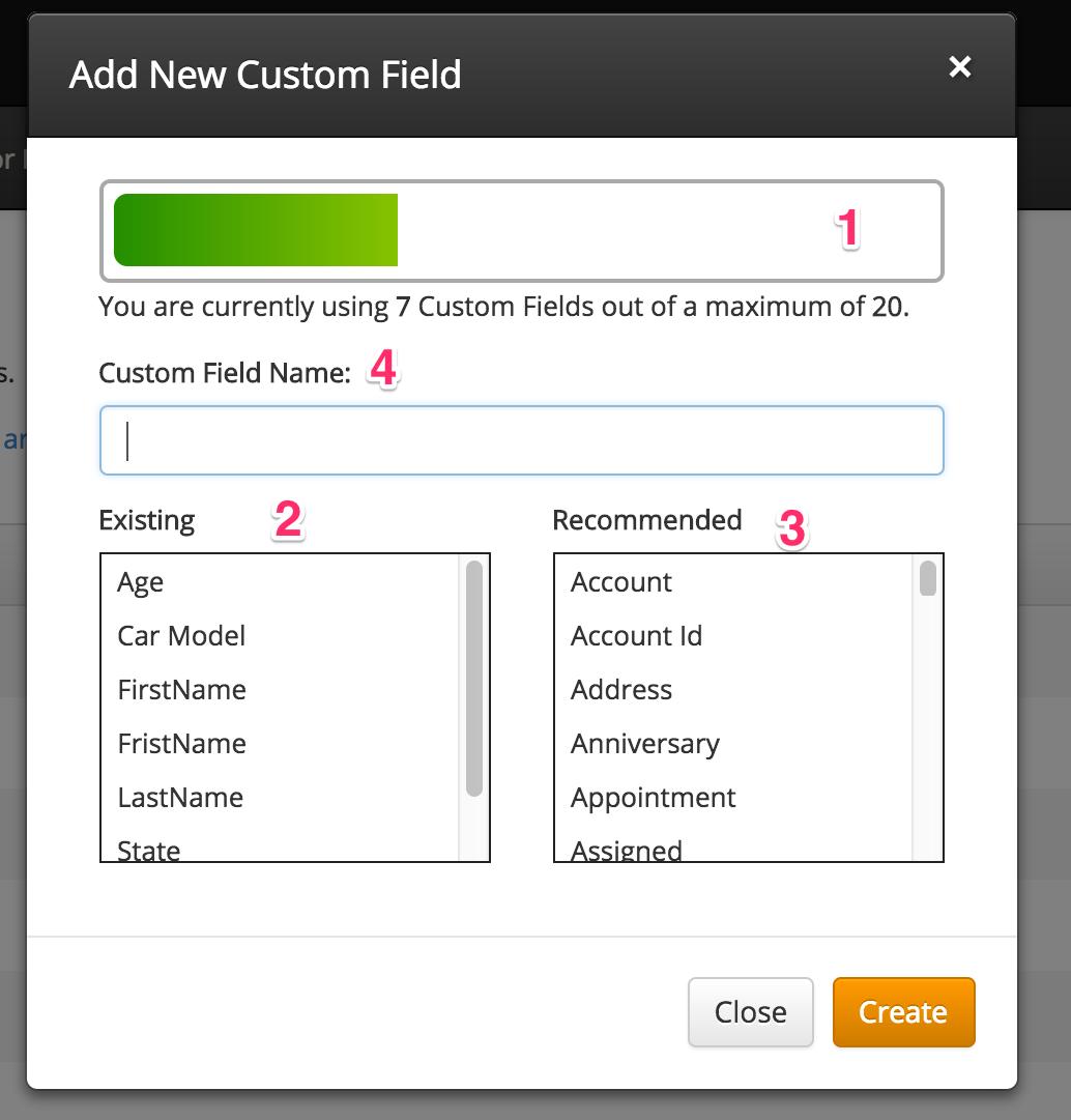 custom field editor overview