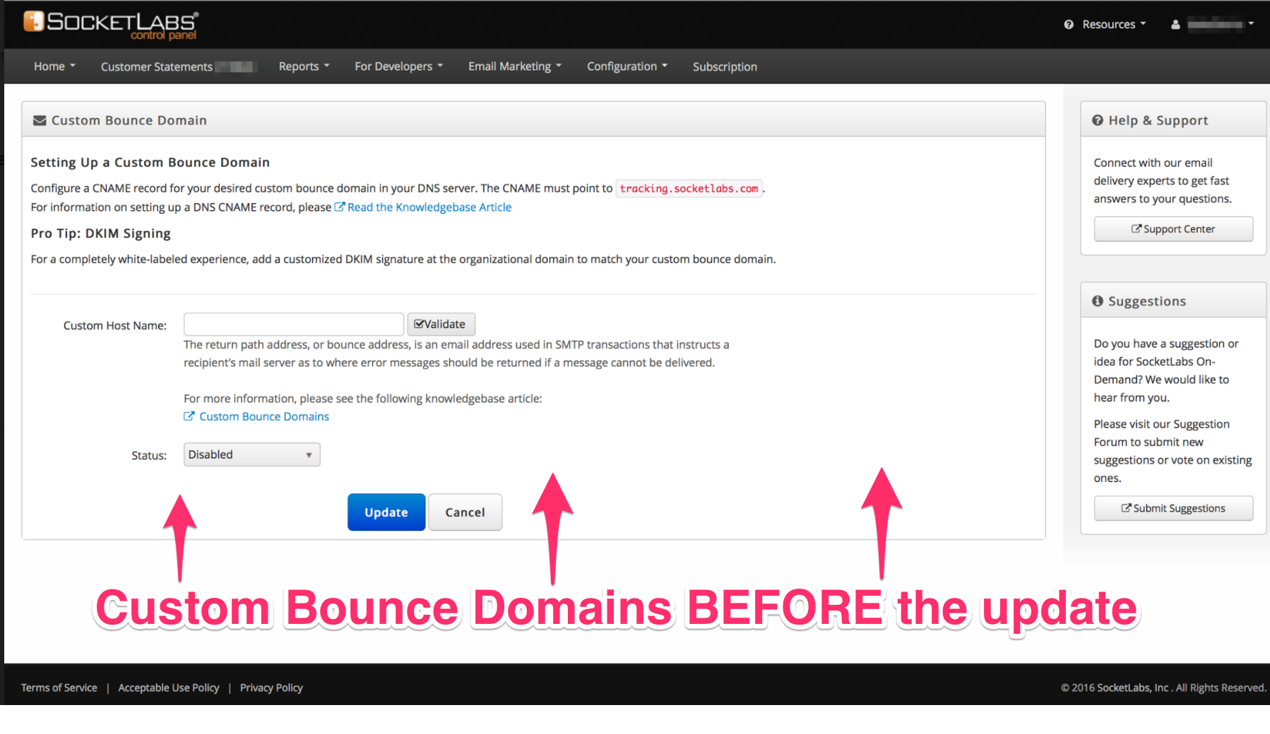Custom Bounce Domains Before