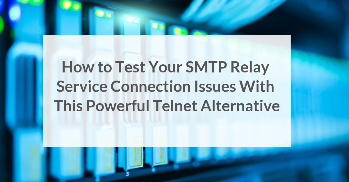 how to test smtp relay