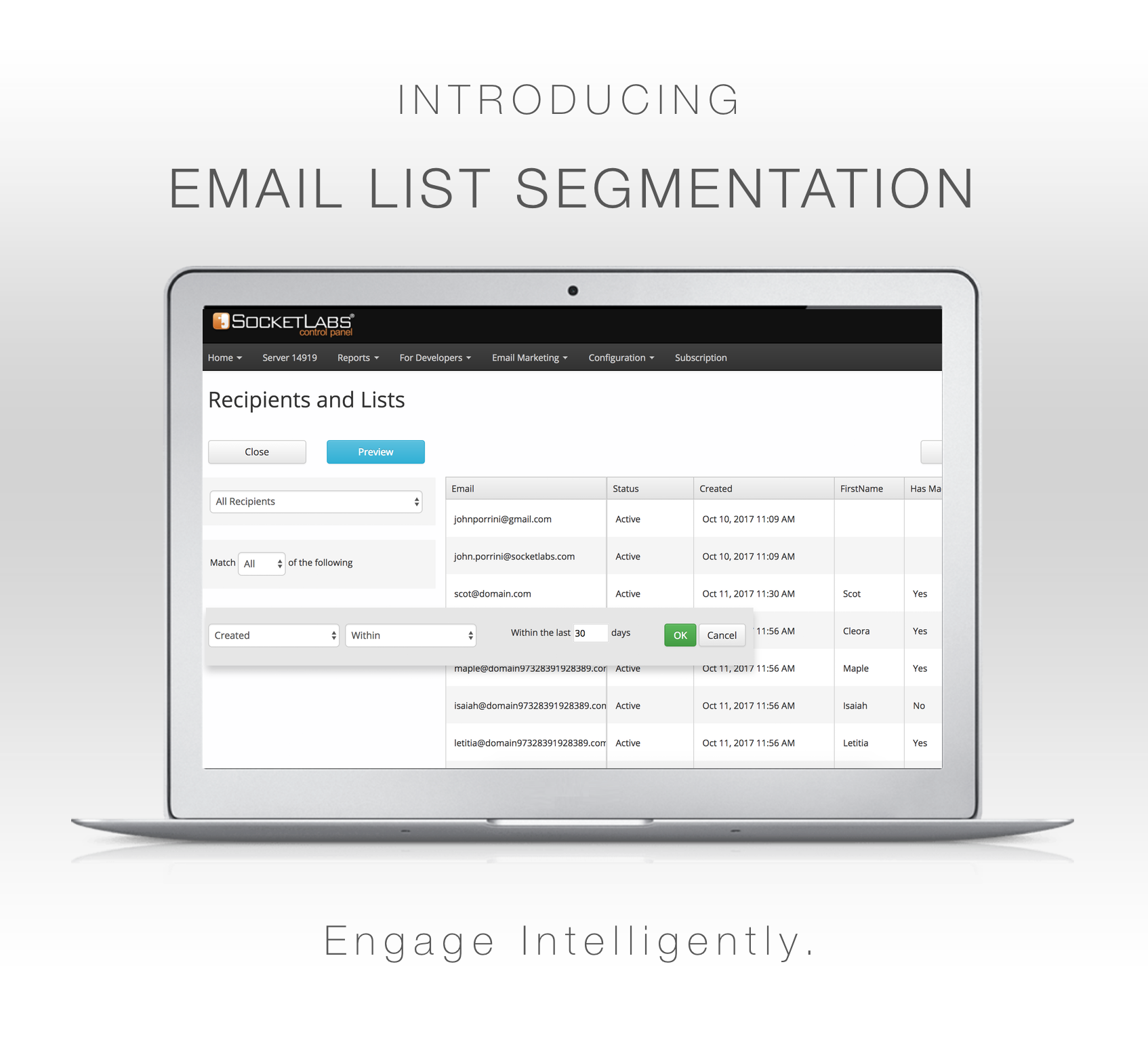 email list segmentation is here