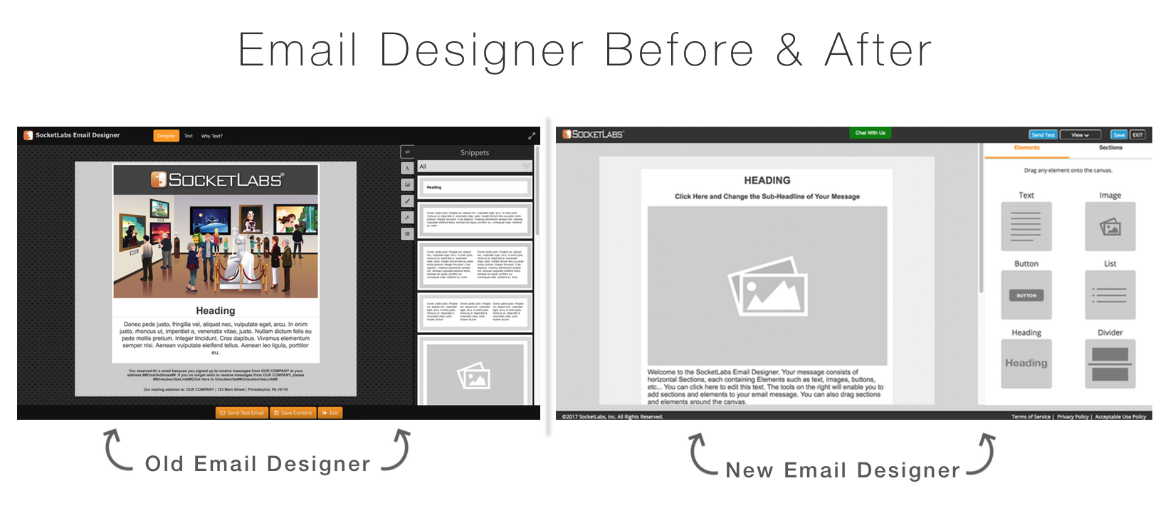 Email Designer Before & After