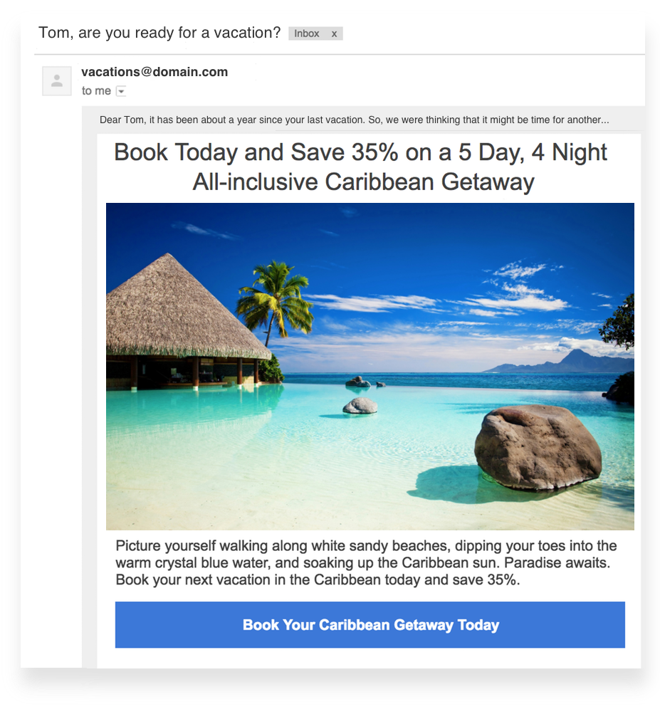 examples of email personalization