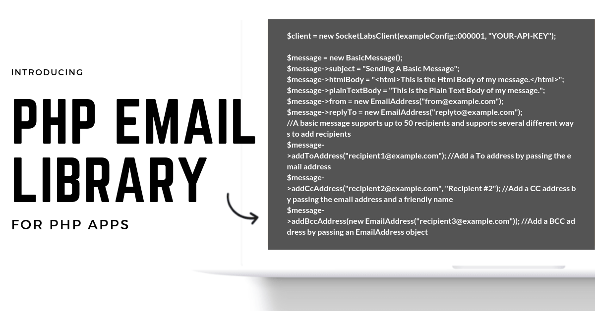 An Easy to Use PHP Email API – No SMTP Server Required! - SocketLabs