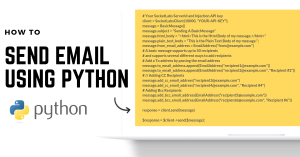 How to Send Email Using Python [With Code Samples]