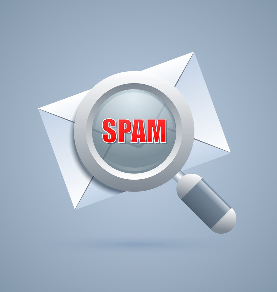 Spam message identification icon