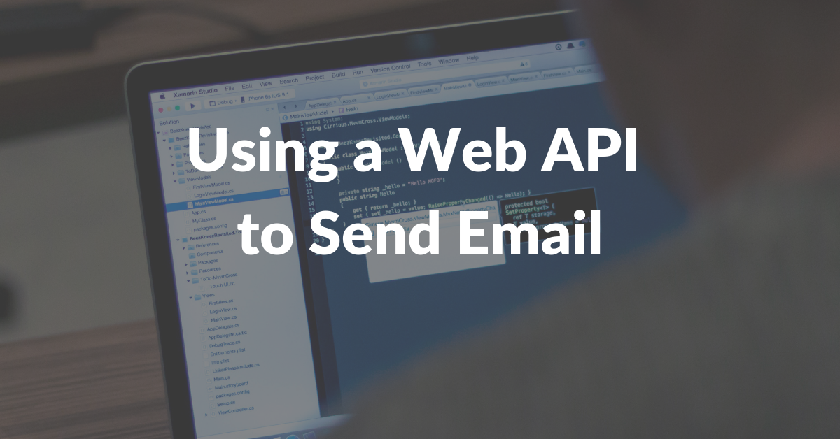 Web api send email