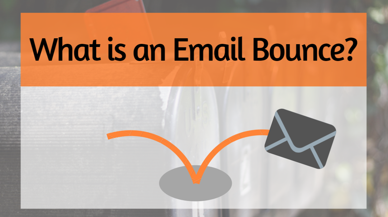 What is an email bounce?