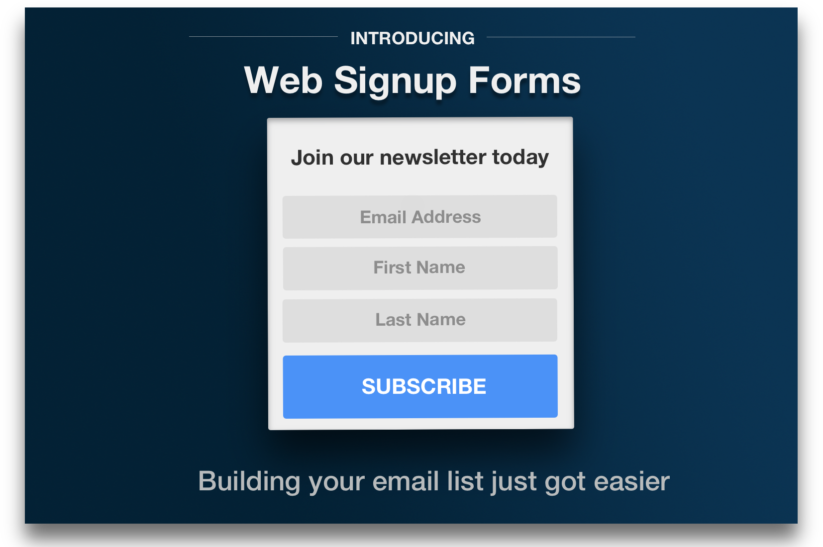 Introducing Web Signup Forms