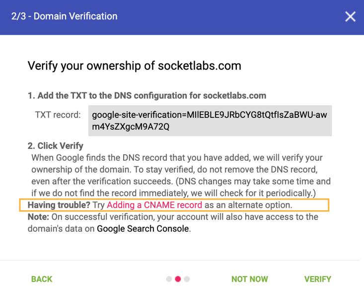 setup google postmaster tools