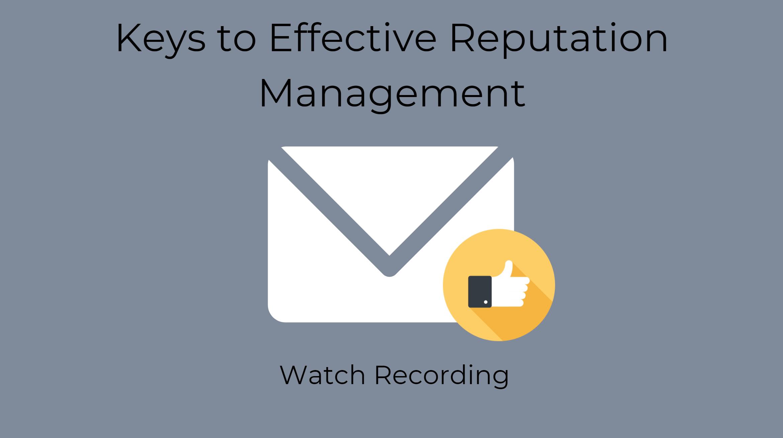 reputation management webinar